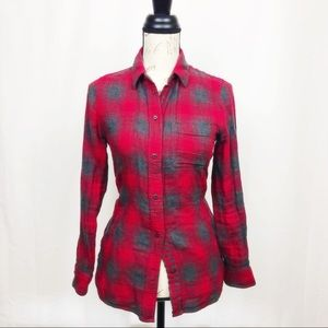 Madewell flannel top w/ pockets nwot